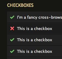 Css alkalmazás Checkbox-on