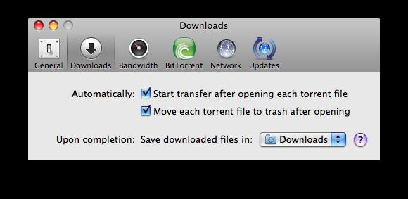 µTorrent - Beállítások
