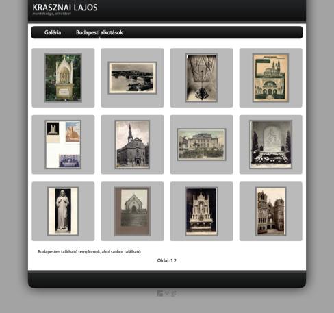 Krasznai Lajos szobrászművész honlapja